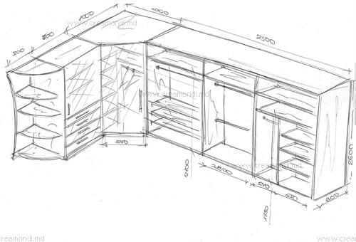 шкаф купе угловой шкаф и пенал в молдове эскизы и чертежи мебели
