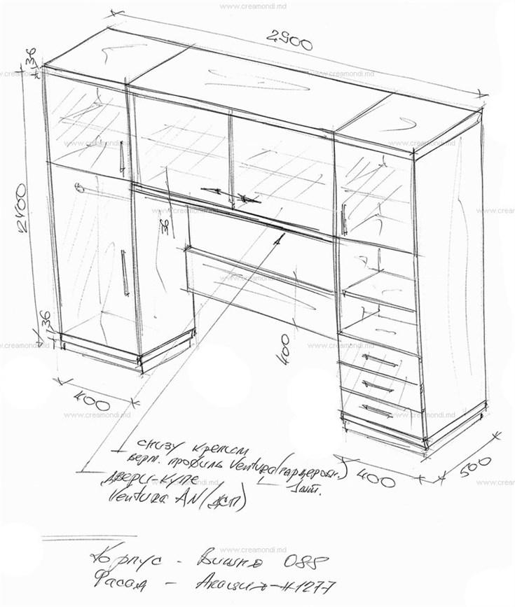 мебель для детской комнаты в молдове эскизы и чертежи мебели от