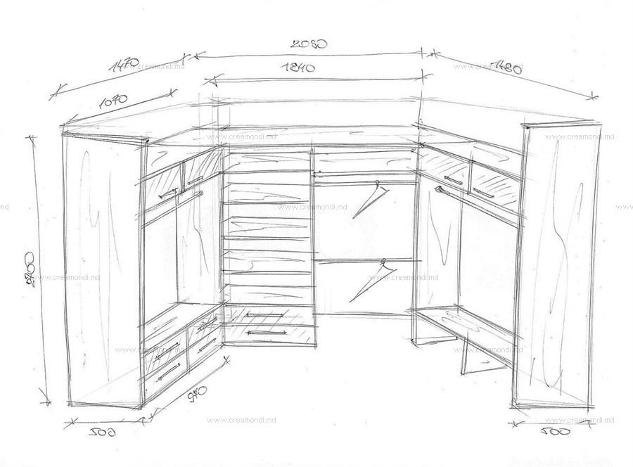 чертежи схемы корпусной мебели
