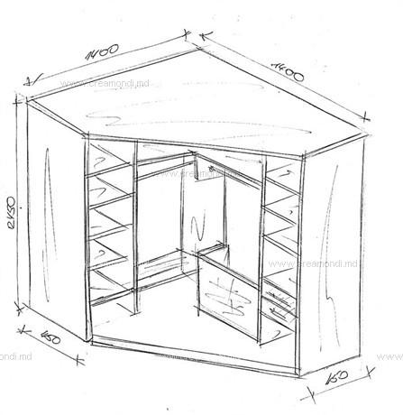 Угловые шкаф-купе своими руками чертежи описание