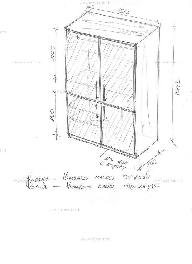 Чертеж шкаф на балконе своими руками 14
