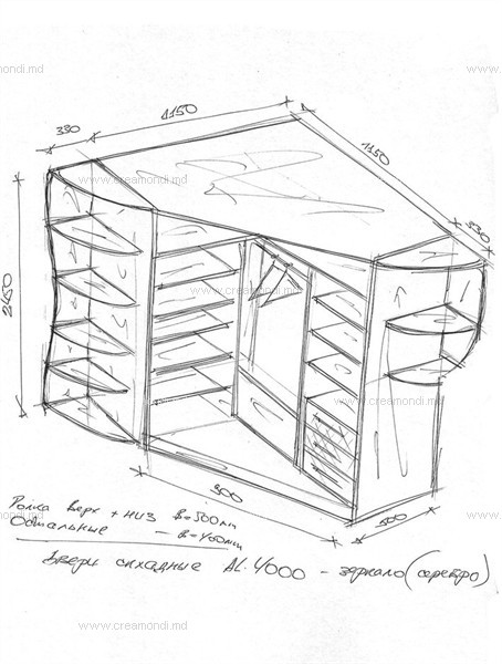 Шкаф-купе угловой своими руками чертежи и эскизы