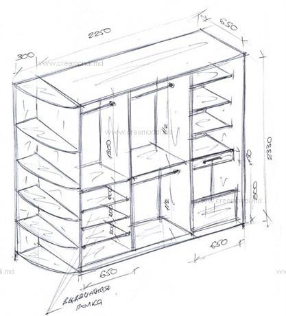 эскизы шкафов: