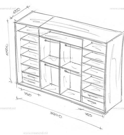 Встроенные шкафы купе в спальню схемы и