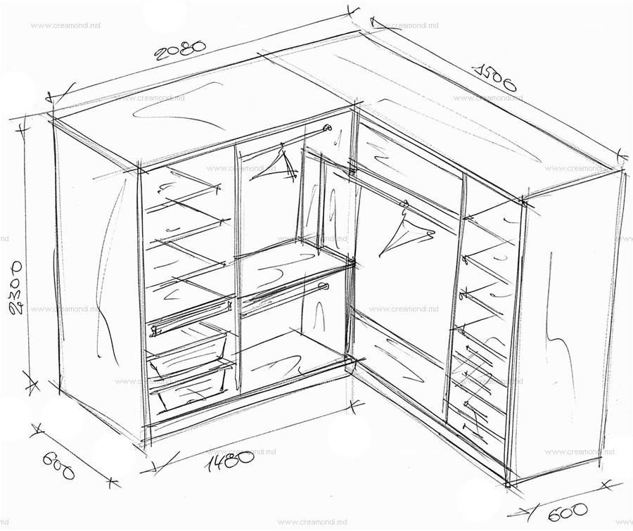 Угловые шкафы купе своими руками фото чертежи