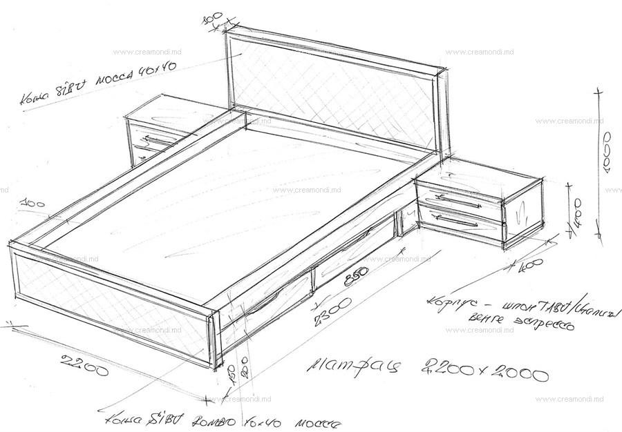 Кровать двуспальная с ящиками своими руками чертежи