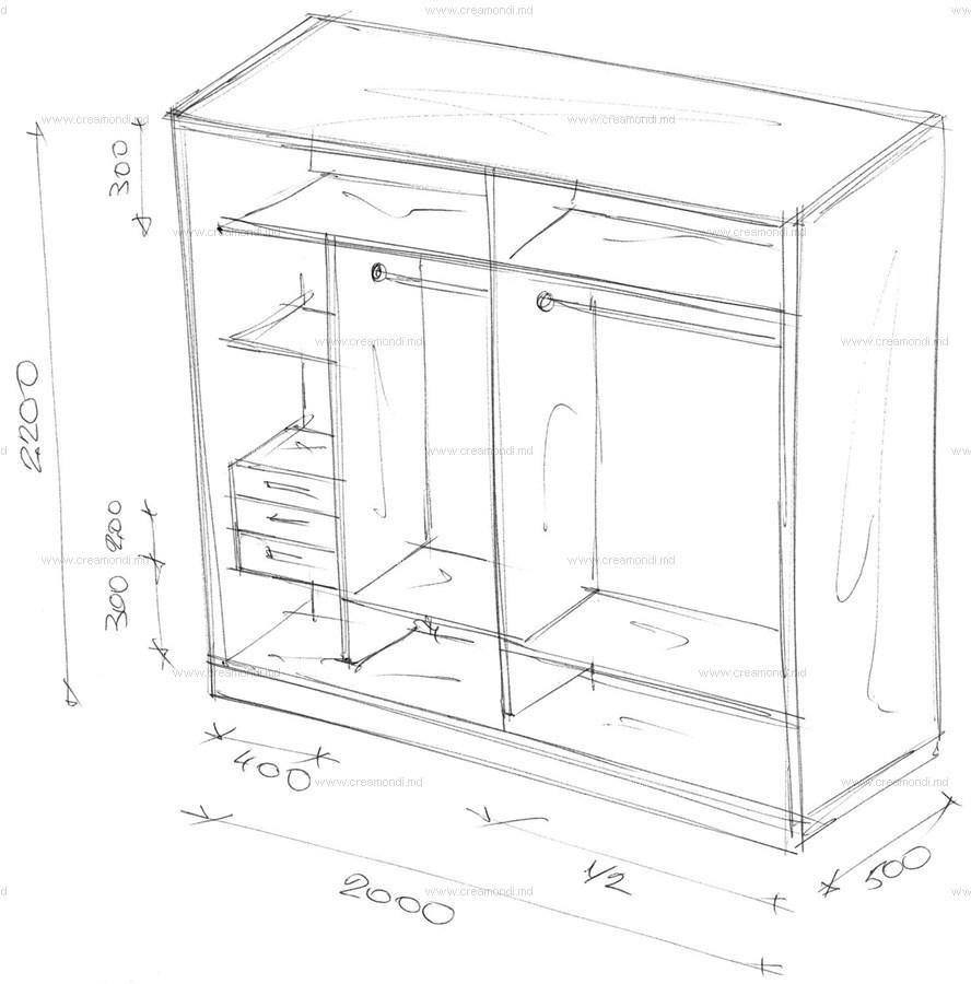 Как самому сделать чертеж шкафа