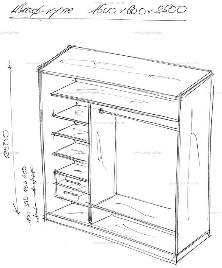 Шкаф-купе в прихожей своими руками чертежи описание