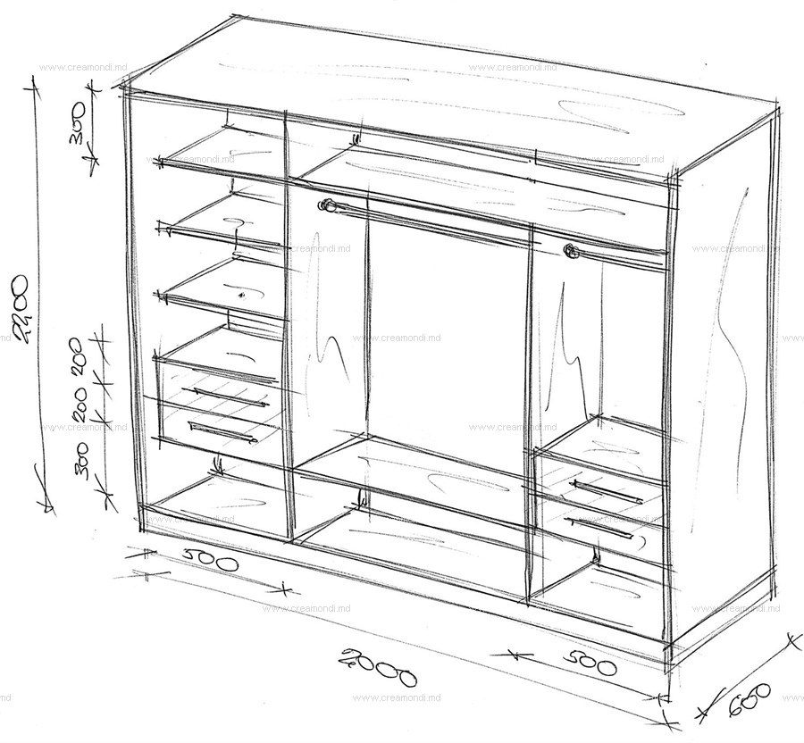 Узкий встроенный шкаф-купе в прихожую своими руками 91