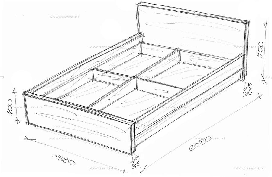Чертеж как сделать кровать