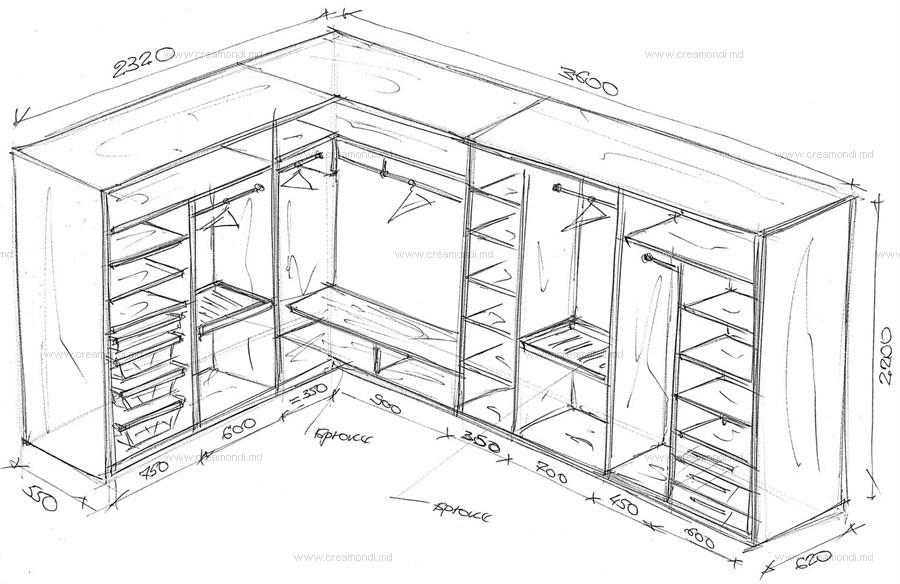 составить эскиз мебели
