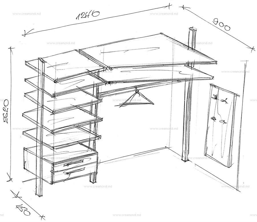 Маленькая гардеробная своими руками чертежи и схемы фото 28