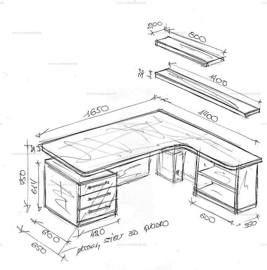 Угловой письменный стол своими руками с чертежами