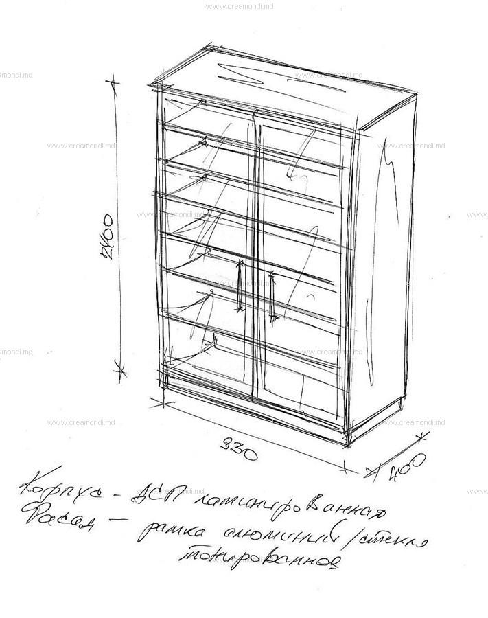 Шкаф на лоджию чертеж..