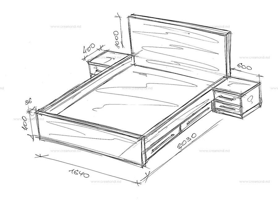 Стол с выдвижными ящиками своими руками из дерева чертежи 32