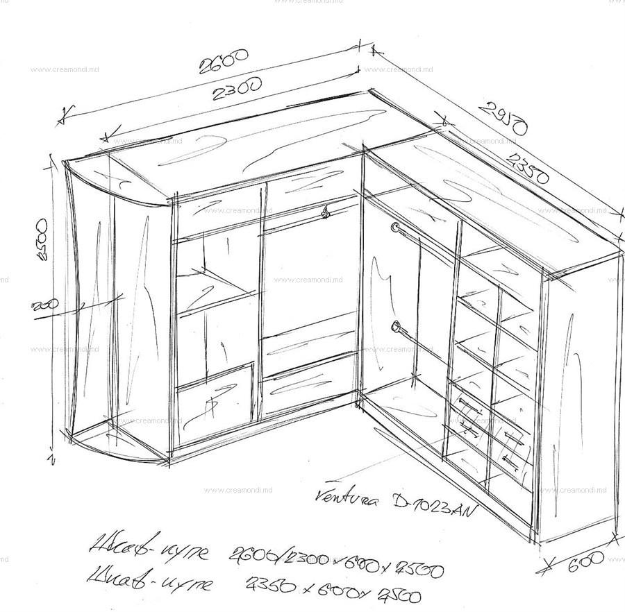 Угловой шкафы купе схемы размеры наполнение