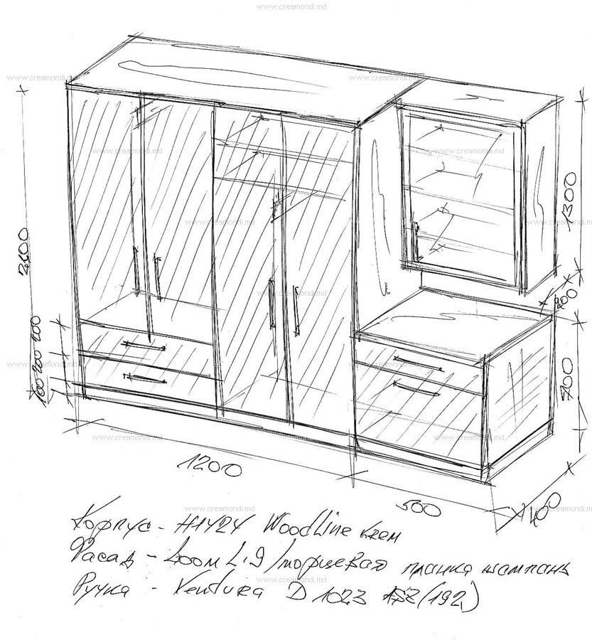 Схема мебели в прихожей