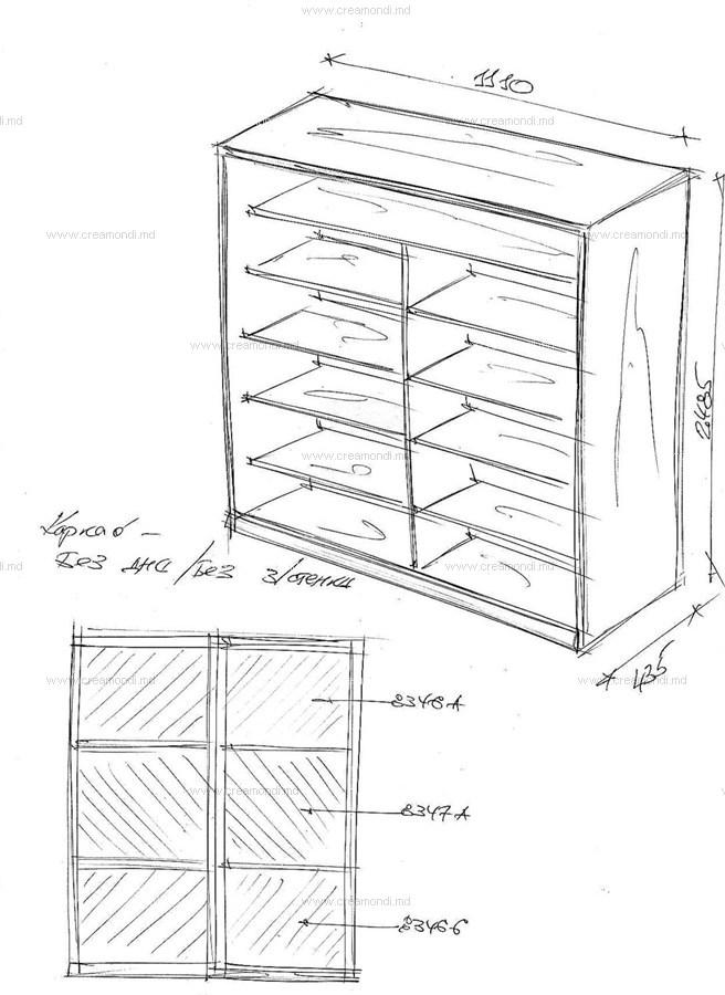 Схема шкафа на балконе..
