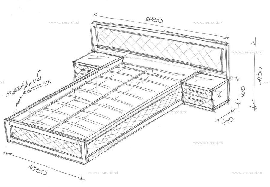 Спинка кровати из дерева чертеж