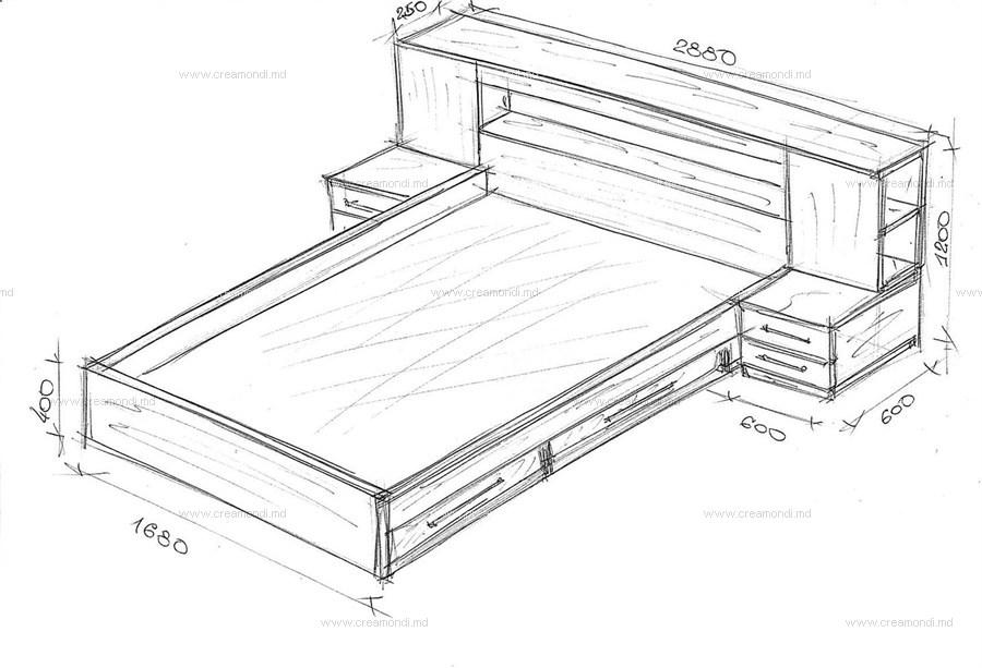 Кровати из дсп своими руками чертежи размеры 892