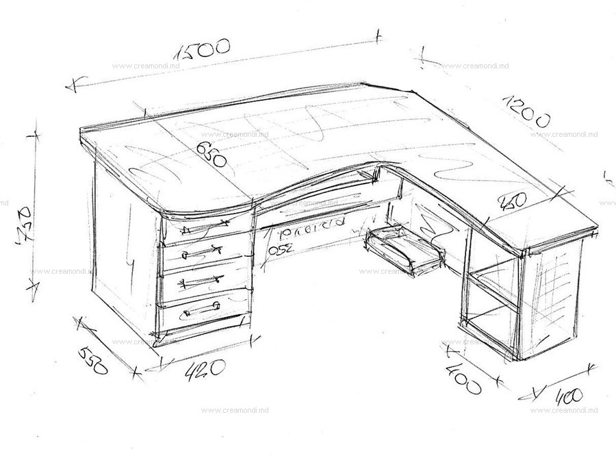 Компьютерный стол угловой своими руками чертежи