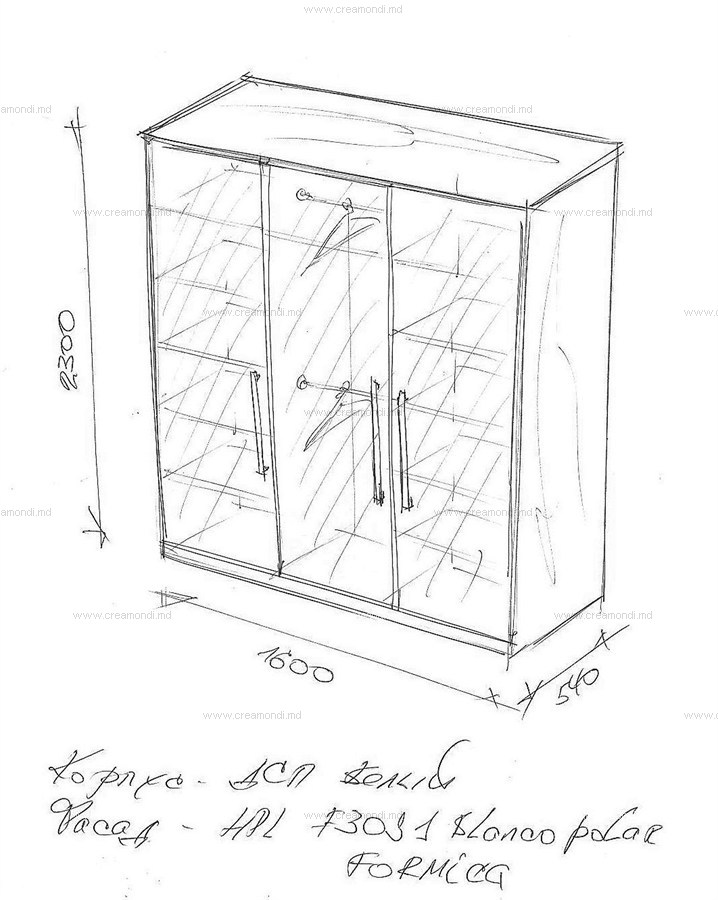 Шкаф створчатый чертеж
