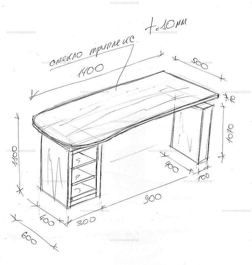 Кухонный стол своими руками из дсп чертежи 1