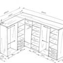 Маленькие гардеробные комнаты схема и размеры6