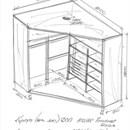 Встроенный угловой шкаф своими руками чертежи и схемы 232