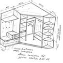 Встроенный угловой шкаф своими руками чертежи и схемы 511
