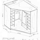 Шкафы купе угловые размеры своими руками 71