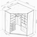 Чертежи шкафы купе угловые