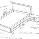 Двуспальная деревянная кровать своими руками чертежи и схемы 246