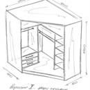 Встроенный угловой шкаф своими руками чертежи и схемы 781