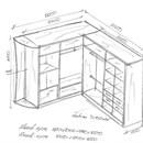 Шкафы купе угловые размеры своими руками 22