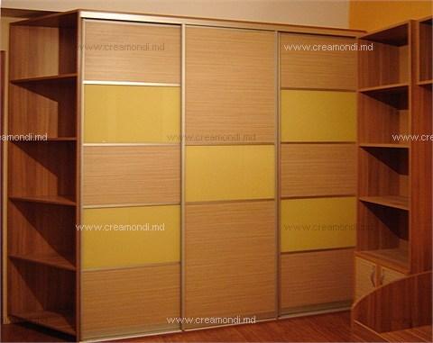 Шкафы-купе шкаф лакобель жёлтый+дсп зебрано песочный в молдо.